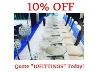 CHAIR COVER HIRE, TABLE CLOTHS, CENTREPIECES PACKAGE DEALS