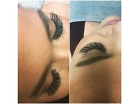 Eyelash extensions, Russian volume, semi permanent make up, Microblading