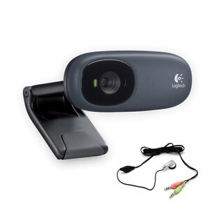 Logitech Webcam C110 1.3 MP w/ Built-in Mic & FREE Headset for XP Vista Win 7