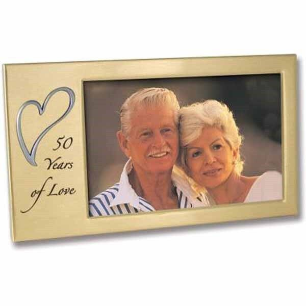 50 Years of Love Anniversary Photo Frame NIB by Cathedral Art SKU W321