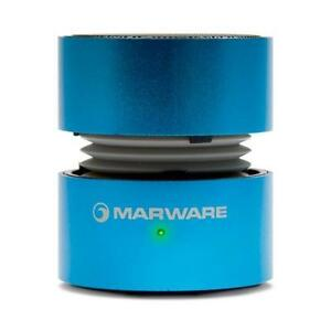MARWARE UpSurge Portable Mini Speaker - Vacuum Bass - Rechargeable - Blue or Silver
