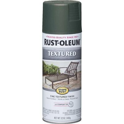 6 Pk Forest Green RustOleum Stops Rust Textured Finish Spray Paint -
