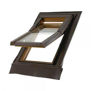 Dachfenster 66x118 Einbaumaß Dachflächenfenster Skylight Kunststoff incl. ...