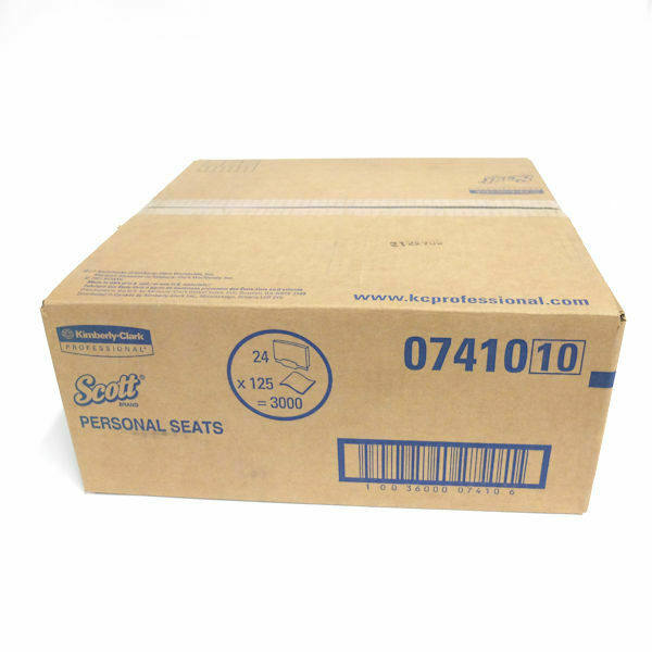 """Scott Toilet Seat Covers, 15"""" x 18"""", 125 Covers/Pack, 24 Packs/Carton (07410)"""