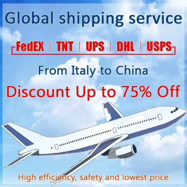 Discount FedEx/TNT/UPS Shipping label from Italy to China fast shipping
