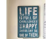 Quote wooden canvas