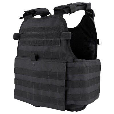 CONDOR BLACK MOLLE Operator Plate Carrier Body Armor Chest Assault Rig Vest MOPC - Chest Plate