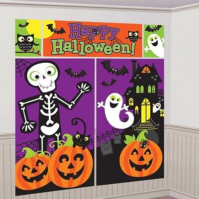 Happy Halloween Decorating Kit - 5 Piece Set - Halloween Scene Setter Party
