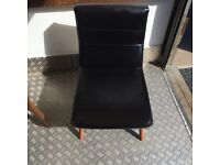 Retro Small Black Leather Chair Excellent condition.