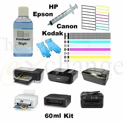 Printer Cleaning Kit 60ml Printhead magic fix streaky prints unblock nozzles