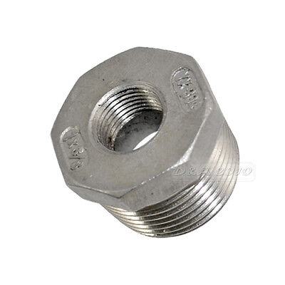 1 Male X 38 Female Stainless Steel Threaded Reducer Bushing Pipe Fitting Npt