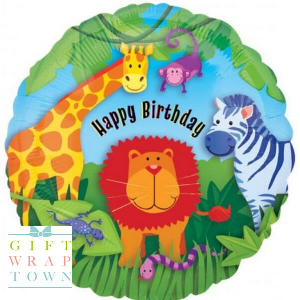 CUTE ANIMALS HAPPY BIRTHDAY PARTY BALLOON BIRTHDAY  BALLOON PARTY HELIUM