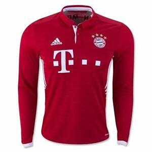 Bayern Munich Home Long Sleeve Lewandowski 16/17 Official Adidas Jersey