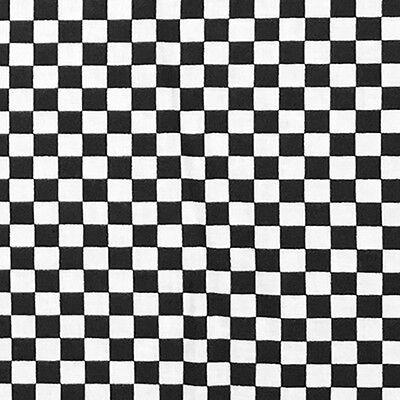 BANDANA Checkerboard 22x22 COTTON BANDANNA SCARF RACING FLAG LOT 1/2/3/6/12/24 - Checkerboard Bandana