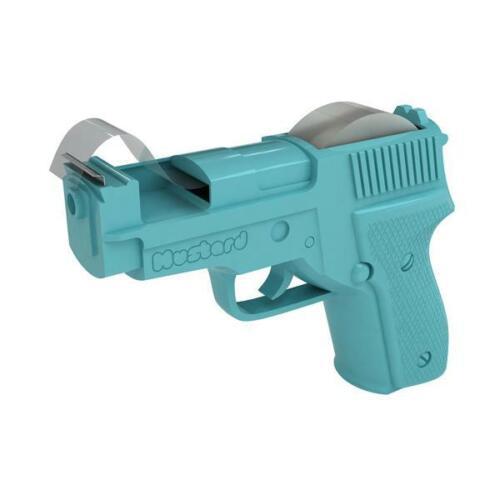 Mustard Sticky Trigger Finger Gun Shape Tape Dispenser Blue