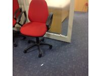 Red Cloth Office Chairs