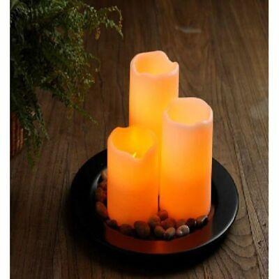 LED Candele in Vera Cera di Caldo Tremolante 4er Set con Telecomando