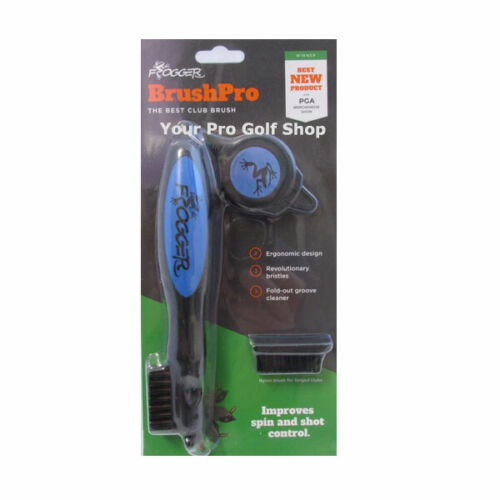 Frogger BrushPro Retractable Dual-Bristle Club Brush/Groove Cleaner Blue
