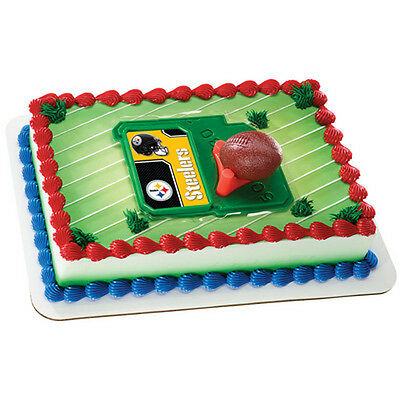 Pittsburgh Steelers NFL Football 3 piece Cake Decorating Kit Toppers Party Favor - Steelers Party Favors