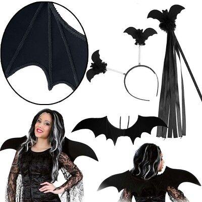 Kostüm-Set Fledermaus 3tlg.+Flügel,+Stab, Fledermauskostüm Fasching - Fledermaus Kostüm Flügel