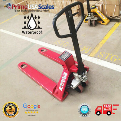 Op-918wd Pallet Jack Scale 2500 Lb Pallet Truck Scale Wash Down Load Cells Ip67