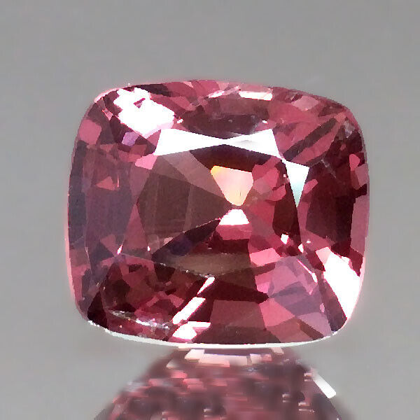 1.25cts Fancy Cushion Peach Pink Natural Spinel Loose Genuine Gemstones