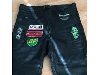 Motorcycle leather trousers/36 short/motorbike/leather/pants/trousers