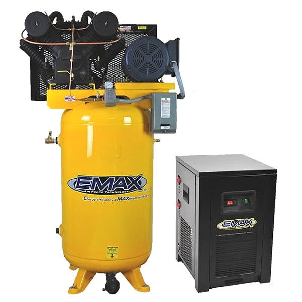 Emax Industrial Plus 7.5-hp 80-gallon Two-stage Air Compressor W/ Dryer (208/...
