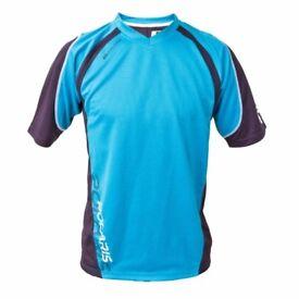 Polaris AM Nomad Short Sleeve Cycling Jersey mountain bike enduro trail blue MTB