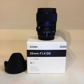 Sigma 35mm F1-4 Art Lens