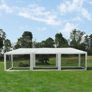 Event Tent for Catering 10' x 30' – Mesh White