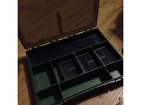 Fishing tackle box - compartments and smaller boxes inside
