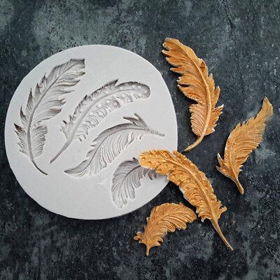 Mold Animal - Silicone Feather Fondant Mould Cake Animal Birds Plume Chocolate Baking DIY Mold