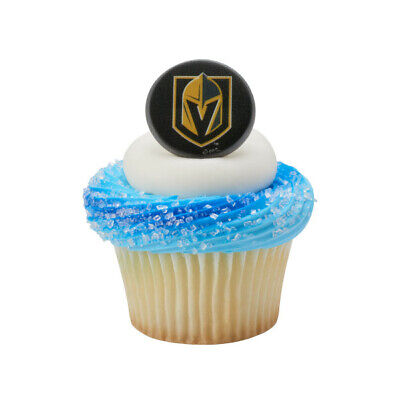 NHL Cake Toppers Vegas Knights Cupcake Rings One Dozen Hockey - Hockey Cake Toppers
