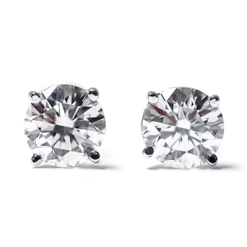 0.22 Ct Round Cut 14K White Gold Diamond Stud Earrings