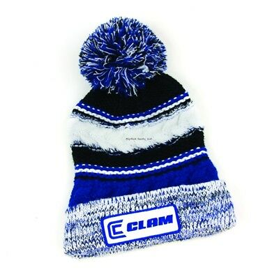 **NEW Ice Armor Clam Blue Pom Ice Fishing Hat 10577