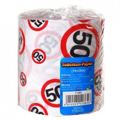 Toilettenpapier 50 Jahre Geschenk für den Geburtstag Länge 25m Klopapier (0.40€/