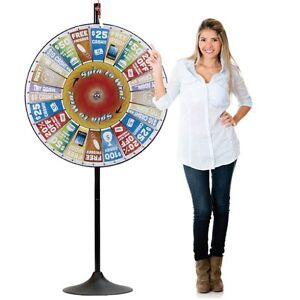 36 INCH POCKET INSERT CUSTOM PRIZE WHEEL WITH BONUS EXTENSION BA