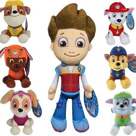 "7pcs paw patrol soft plush toys 8"" new"