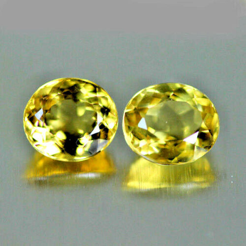 6.86CTS UNIQUE DAZZLING AAA GOLDEN YELLOW 100% NATURAL HELIODOR BERYL RARE GEM!