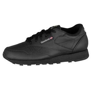 reebok classic leather schuhe sneaker schwarz damen gs 50149 ebay. Black Bedroom Furniture Sets. Home Design Ideas