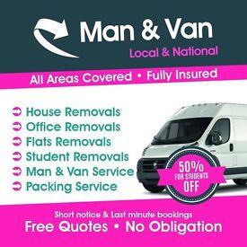 Cheap Man & Van £15p/h Hire Removal Service