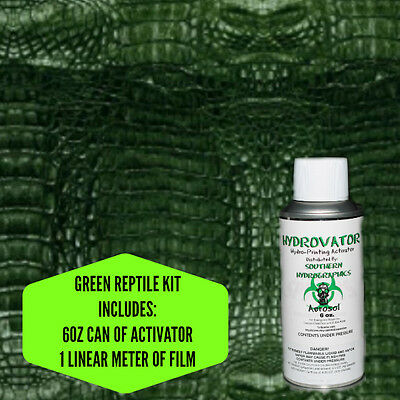 Hydrographic Film Water Transfer Hydro Dip 6oz. Activator Green Reptile Kit