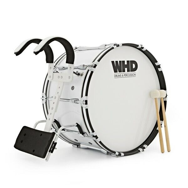 WHD 24'' x 14'' Professional Marching Bass Drum with Carrier