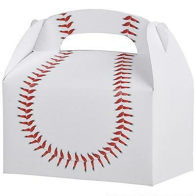 12 BASEBALL TREAT BOXES Birthday Loot Goody Prize Gift Bag #ST69 FREE - Baseball Goodie Bags