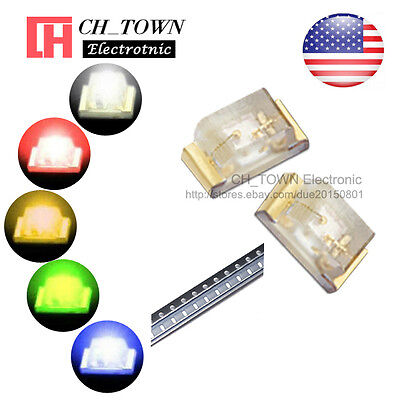 5 Lights 100pcs 0603 1608 Smd Smt Led Diodes White Red Yellow Blue Mix Kits