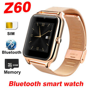 Bluetooth Smart Watch Phone Z60 Stainless Steel Support SIM TF C