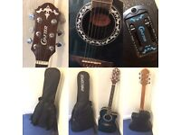 Crafter Electric / Acoustic Guitar and Bag