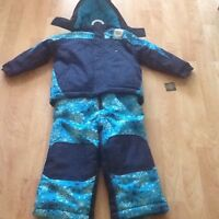 New with tags..boys two pce snow suit and a boys winter jacket
