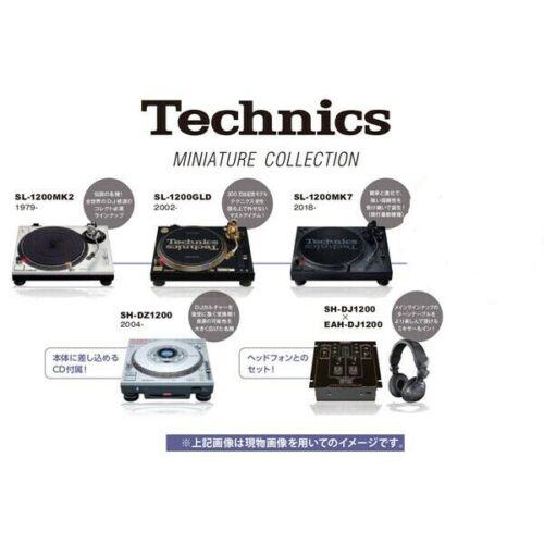 Technics Miniature Figure Turntables & Audio Mixer DJ Capsule Toy 5pcs New FS